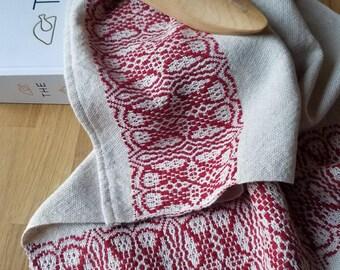 Tea or Kitchen Towel Handwoven Sustainable Organic Cotton Linen