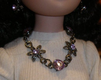 Necklace and earrings for BJDs  Ellowyne, others16  to 24 inches  TeamBJD, OlympiaEtsy, etsyTrashion, etsyBead, FunkyAlternativeJewelry