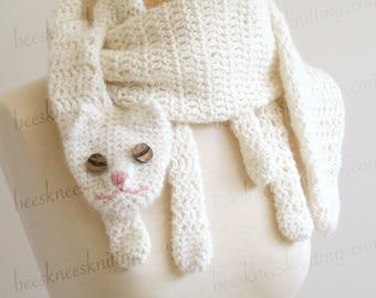 Digital PDF Crochet Pattern for Cat Cuddler Scarf - DIY Fashion Tutorial - Instant Download - ENGLISH only