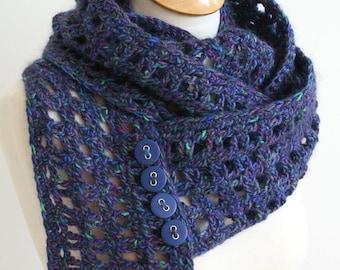 Digital PDF Crochet Pattern for Window Pane Scarf - DIY Fashion Tutorial - Instant Download - ENGLISH only
