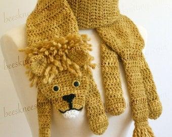 Digital PDF Crochet Pattern for Lion Scarf - DIY Fashion Tutorial - Instant Download - ENGLISH only