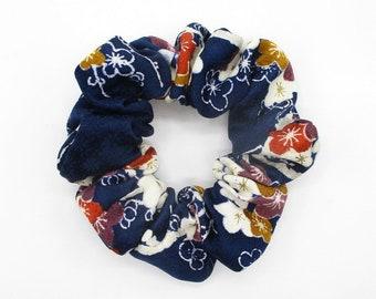 Long Metal Silk Fabric Hair Clip with Glitter Statement Kimono Clip