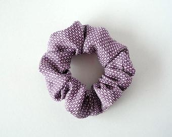 Light Purple Scrunchies, Lavender Scrunchies, Japanese Komon Silk Kimono Hair Accessory
