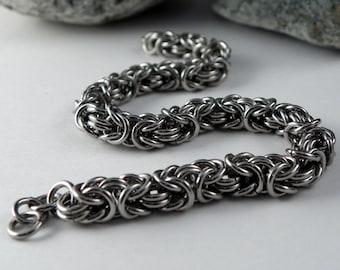 Chainmaille Bracelet - Byzantine Bracelet - Stainless Steel Bracelet - Stainless Steel Jewelry - Chain Bracelet - Non Tarnish Jewelry