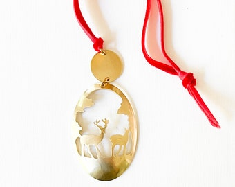 Christmas Ornament, deer ornament, nature lover ornament, Unique Christmas Ornament, Farmhouse Christmas Ornament, holiday decor, gift