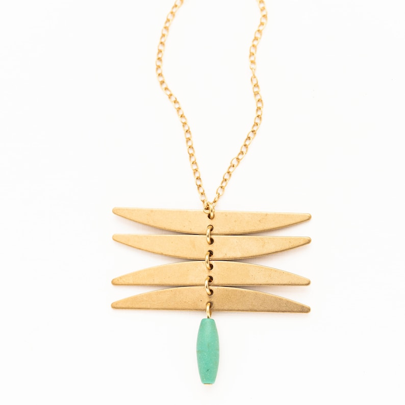 statement necklace brass jewelry insect necklace Brass necklace gift for BFF Dragonfly Necklace turquoise Necklace botanical necklace