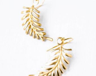 Little branch earrings, Botanical earrings, twig earrings, leaf earrings, Nature lover earrings, botanical, Nature Plant Leaf Earrings