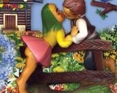 kissing cousins print