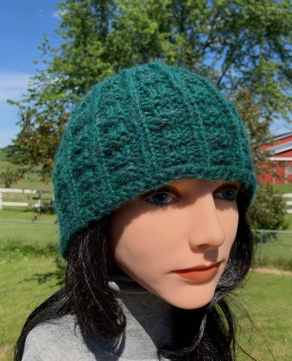 Hand knit Alpaca and Wool Hat for Men and Women