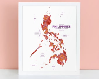 Philippnes Map Print Poster