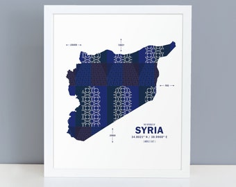 Syria Map Print Poster