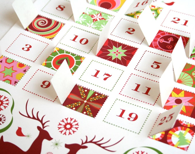 Modern Advent Calendar Printable PDF