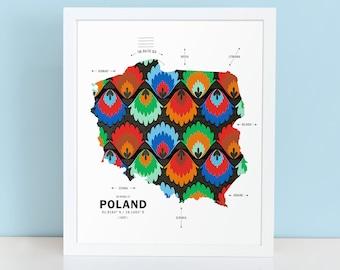 Poland Map Print Poster
