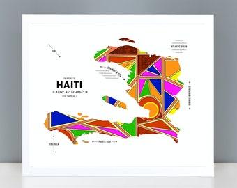 Haiti Map Print Poster