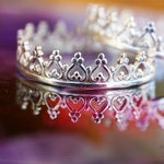 La Reina Sterling Silver Crown Ring SIZE 5.5