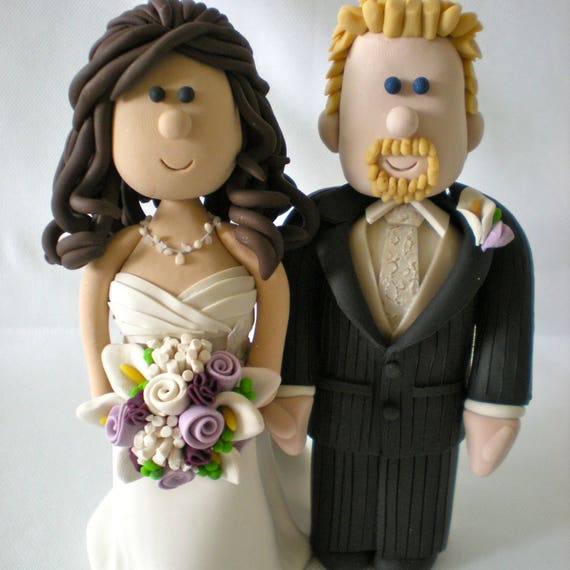 Customized Wedding Cake Toppers Personalized Wedding Toppers Cartoon Wedding Topper Traditional Bride And Groom Cake Topper Figurines Bride