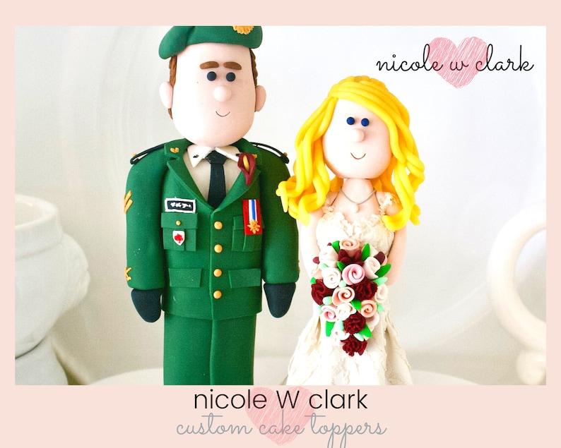 Military Wedding Cake Topper Canadian Deu Uniform Us Army Wedding Wedding Topper Custom Made Figures Navy Air Force Marine Cake Topper