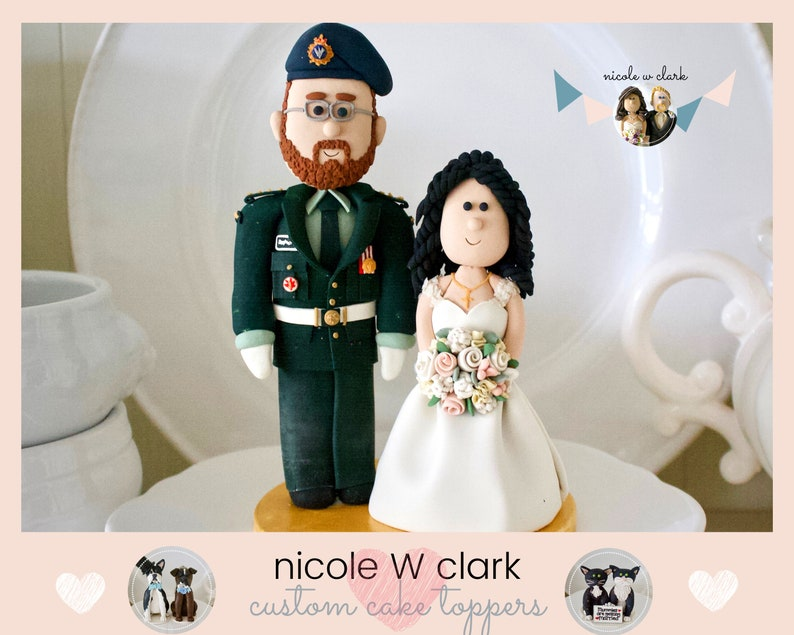 Military Wedding Cake Topper Army Navy Air Force Marines Deu Wedding Cake Topper Personalized Cake Topper Custom Wedding Cake Topper