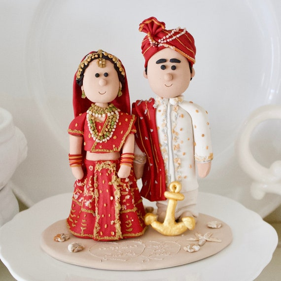 Customized Traditional Indian Wedding Costume Wedding Cake Etsy