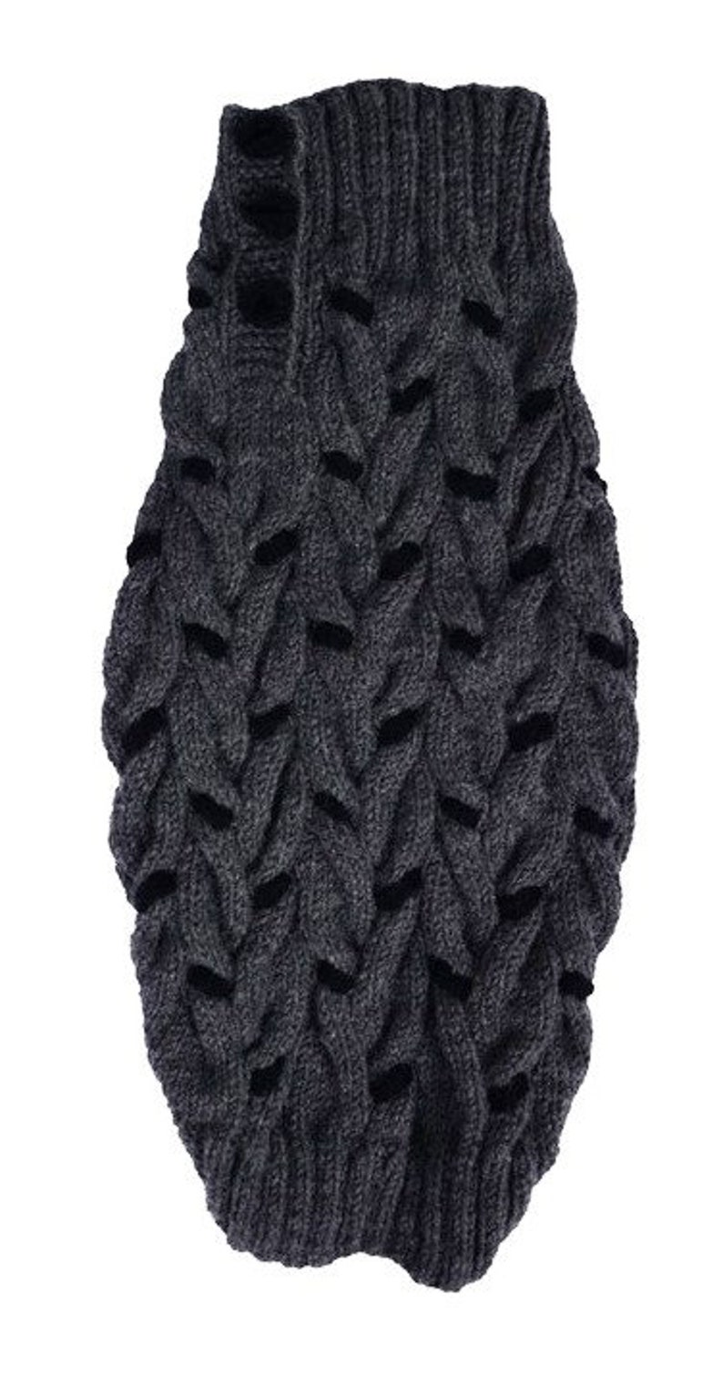other colors are possible hand knitted to the size of your dog warm dog pet winter sweater jumper made to measure multi cable knit