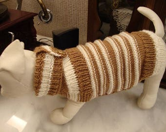 we knit made to measure dog pet sweaters  for any breed - other colors are possible