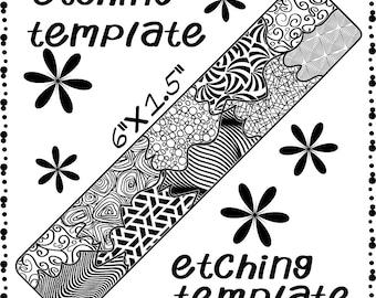 Metal Etching Making jewelry Etching pattern, metal, digital Download DP-F-8