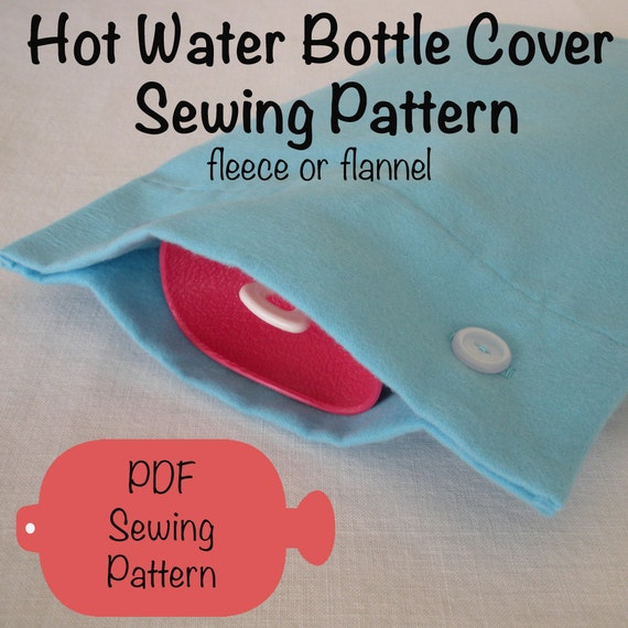 Hot Water Bottle Cover PDF Sewing Pattern for Fleece or