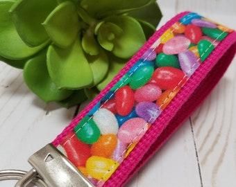 Wristlet Keychain Key Fob Jelly beans