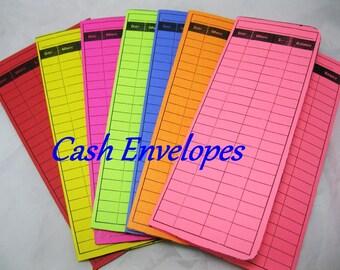 Extra Cash Envelopes  - 7 Envelope Set - Assorted Colors