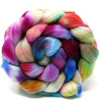 Hand Dyed Polwarth & Nylon blend Combed Wool Top Superwash Sock Knitting Yarn 100g PN17