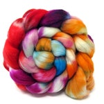 Hand Dyed Polwarth & Nylon blend Combed Wool Top Superwash Sock Knitting Yarn 100g PN19