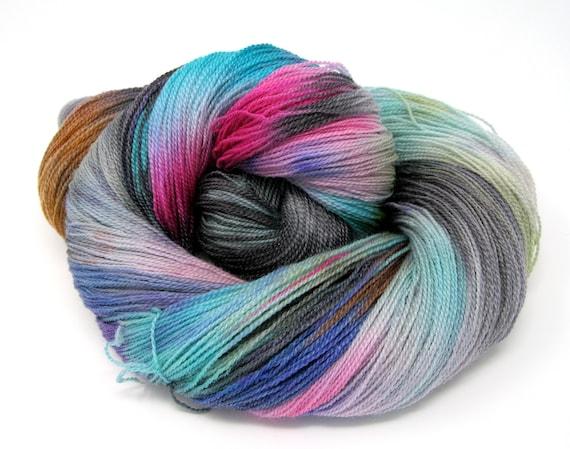 Hand Dyed Merino Superwash & Tencel Laceweight Yarn 100g 700m