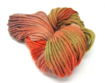 Cheviot Roving Wool Hand Dyed Pencil Roving extra chunky yarn 200g pr47