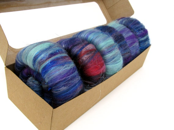 Rolags - Merino Silks Angelina Sparkle Trilobal 55g Boxed