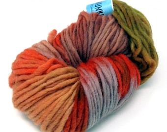Cheviot Roving Wool Hand Dyed Pencil Roving extra chunky yarn 200g pr46