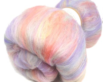 Babyface Fine Merino Wool Carded Batt Spinning and Felting Fibre 100g