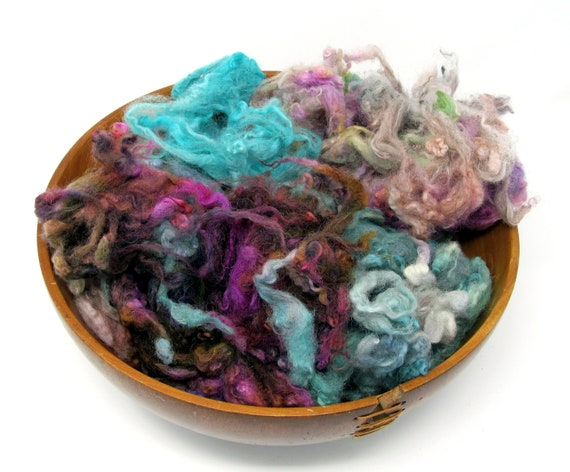 Scottish Heather - Hand Dyed Perendale Fleece Wool 100g