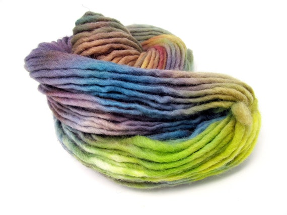 Cheviot Roving Wool Hand Dyed Pencil Roving extra chunky yarn 200g PR13