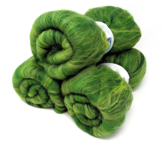 Carded Batts Rainforest Merino Wool 100g