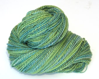 Handspun Yarn Hand Dyed Polwarth Wool 200g 7oz  450 Yards