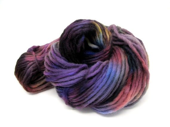 Cheviot Roving Wool Hand Dyed Pencil Roving extra chunky yarn 200g PR9