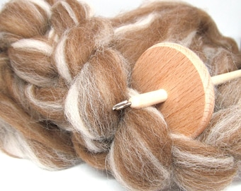 Shetland Humbug Combed Wool Top Blend Natural Coloured Fibre 100g