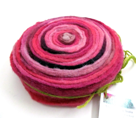 Merino Wool Felt Ribbon Hand Dyed Needlepunch Felt 67g