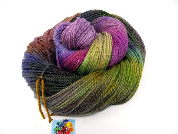 Merino Wool Nylon and Sparkle Sock Yarn Indie Dyed 4ply  100g 350m