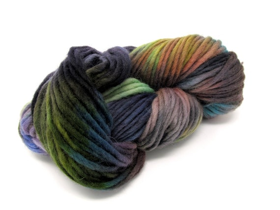Cheviot Roving Wool Hand Dyed Pencil Roving extra chunky yarn 200g PR7