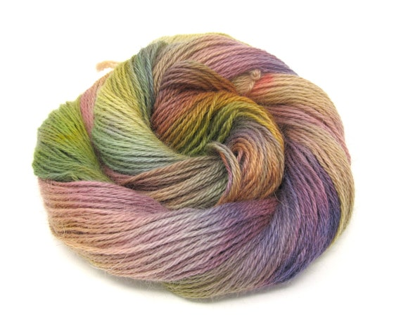 Teeswater Wool Yarn Hand Dyed DK Worsted Weight 100g T7