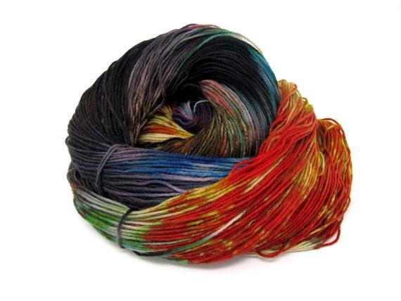Sock Yarn 4ply Kettle Dyed Superwash Merino Wool & Nylon 100g 400m
