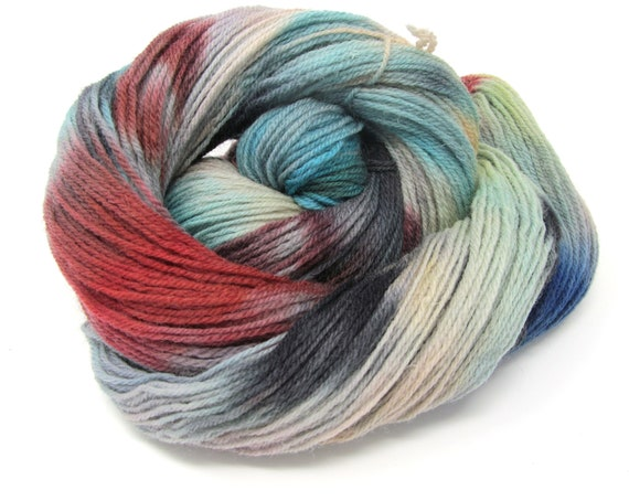 Falkland Wool Hand Dyed Yarn DK British Breed  - 100g skein 300m
