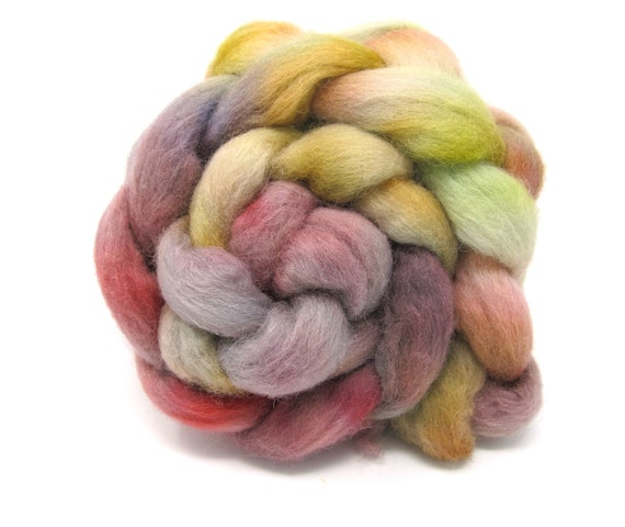 Dorset Horn Hand Dyed Combed Wool Top British breed 100g Roving