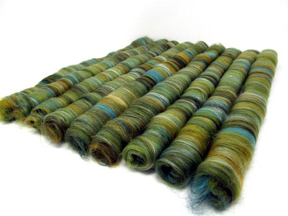 Rolags - Merino Wool & Silk Mustard Tree 100g Boxed
